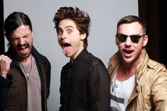 THIRTY SECONDS TO MARS  Allow us to show off our golden senses of humor...