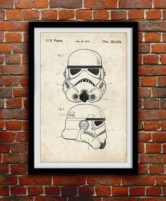 Star Wars Stormtrooper Art - Funny Patent Wall Decor - Nerd Decorations