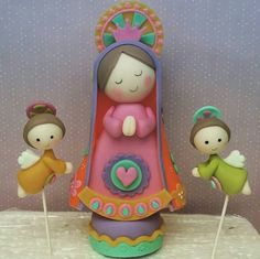 Clay Crafts, Arts And Crafts, Clay Dragon, Baptism Favors, Cute Clay, Fondant Figures, Pasta Flexible, Cold Porcelain, Religious Art