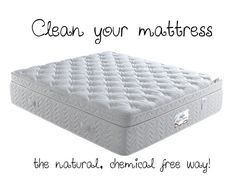 Clean that Dirty Mattress - Naturally :-) 1 cup Baking Soda and a few drops of your favorite essential oil will take the bed bugs away and smell amazing!