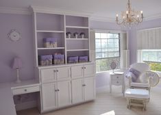 Feminine and traditional #lavender #nursery