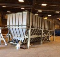 Email: sales@savonaequipment.com  fpr New and Used Industrial Hopper Feeders for Sale - 10 ft. x 30 ft. long Bio Sec Enviro Live Bottom Sludge Hopper for Sale