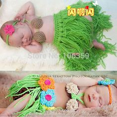 Cheap prop scaffolding, Buy Quality props photography directly from China prop spinner Suppliers:  Girl Baby Newborn Beach Hula Grass Skirt Set Crochet Knit Costume Outfit Photography Photo Props Retail   &nb