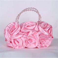 Cheap Elegant Satin Wedding Bag with Pearl 2012 at... via Polyvore