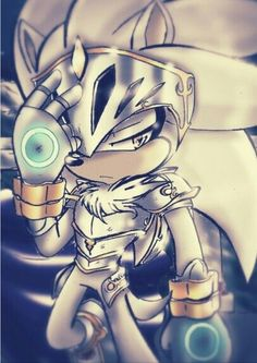 Silver the Hedgehog in armor
