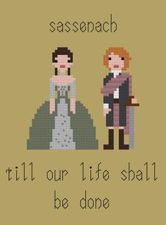 Outlander - Claire and Jamie wedding cross stitch pattern by PointyEnd on Etsy