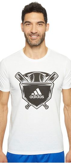 adidas Home Plate Tee (White/Black/Grey) Men's Short Sleeve Pullover - adidas, Home Plate Tee, BR2901, Apparel Top Short Sleeve Pullover, Short Sleeve Pullover, Top, Apparel, Clothes Clothing, Gift, - Fashion Ideas To Inspire