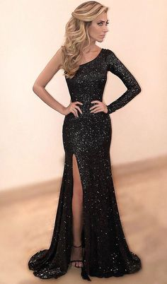 00a04e9d758b2 Prom dresses,elegant one shoulder party dresses, sexy evening gowns,  sparkling prom dresses