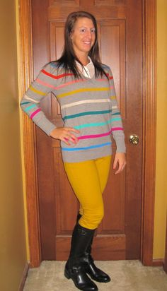 Ask Away...: Outfit of the Day: Colorful Stripes