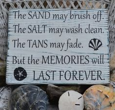 Beach Sign - The Sand May Brush Off.....Beach Memories Decor Wood Sign by The Sign Shoppe