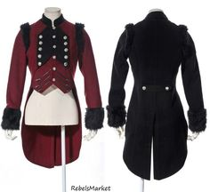 Steampunk Women Military Band Uniform Steampunk Tailcoat