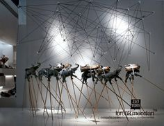 ZOO YORK, a chaos of sticks,shoes,string and trumpeting elephants, pinned by Ton van der Veer