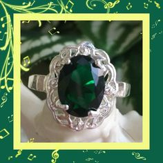Nwot: Silver Emerald Ring