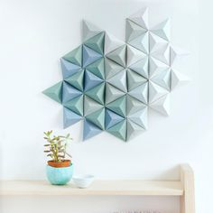 Use old magazine covers to make this ombre wall art.