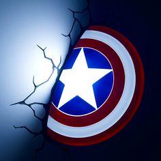 Marvel Captain America Shield 3D Night Light by 3D Deco Light