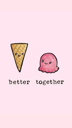 18 Ideas For Funny Cute Drawings Doodles Cute Wallpaper For Phone, Kawaii Wallpaper, Ice Cream Wallpaper Iphone, Cute Food Wallpaper, Cute Puns, Funny Cute, Kawaii Drawings, Easy Drawings, Bff