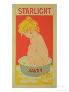 "Reproduction of a Poster Advertising ""Starlight Soap,"" 1899 Giclee Print by Henri Georges Jean Isidore Meunier at AllPosters.com  11x22"