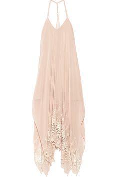 Alice + Olivia | Embroidered chiffon maxi dress | NET-A-PORTER.COM Alice Olivia, Kaftan, Pink Evening Gowns, Chiffon Dress Long, Dress To Impress, Summer Dresses, Maxi Dresses, Long Dresses, Pretty Dresses