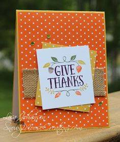 Snowy Moose Creations: Give Thanks Stampin Up Thankful Forest Friends