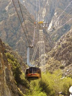 Palm Springs Tram, Palm Springs CA. Love this place in the winter.  Summer at the bottom, snow on top at 8600 feet!
