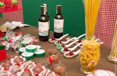 Kit Festa italiana - enfeites para doces e lembrancinhas