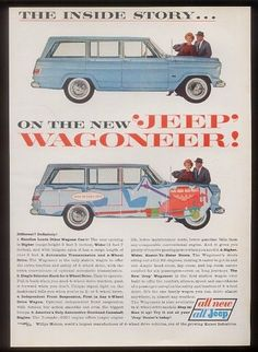 1963 Jeep Wagoneer blue truck photo INTRO vintage print ad|Jeep ads|Classic Jeeps|Jeep enthusiest|Jeep Collectors