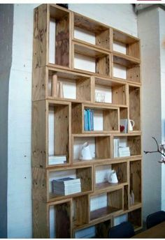Shelves and boxes