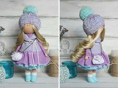 Tilda doll Handmade doll Violet doll Russian por AnnKirillartPlace