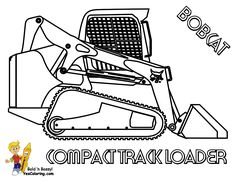 Inspired Picture of Excavator Coloring Page . Excavator Coloring Page Macho Coloring Pages Of Tractors Construction Free Bobcat Tractor Coloring Pages, Airplane Coloring Pages, Disney Coloring Pages, Free Printable Coloring Pages, Colouring Pages, Coloring Pages For Kids, Coloring Sheets, Coloring Books, Bobcat Tracks