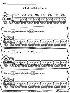 ordinal numbers find and color 2 | Kindergarten | Pinterest ...
