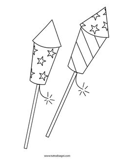 Fireworks coloring page