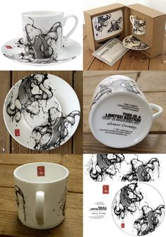 Pretty packaging, and wonderful dishware by Nanami Cowdroy Pretty Packaging, Beauty Packaging, Brand Packaging, Packaging Design, Cup Art, Photoshop, Box Design, Japanese Art, Cool Gifts