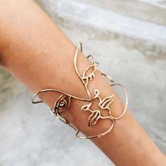 Face Wire Cuff Bracelet