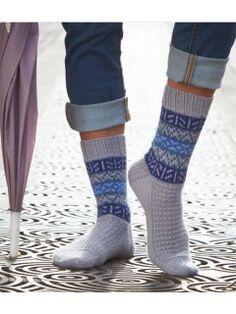 Stranded Colorwork Knitted Socks for Men or Women | InterweaveStore.com