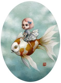 Abbi and the Goldfish by Mab Graves by mab graves, via Flickr