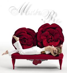 Roses are Ruby Red - LOVE this bench <3