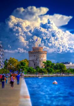 "gemsofgreece:""The White Tower, Thessaloniki, Greece"" Places Around The World, Travel Around The World, Around The Worlds, Paros, Santorini, Places To Travel, Places To Visit, Macedonia Greece, Places In Greece"