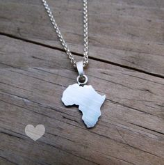 Africa necklace silver africa jewelry travel gift wanderlust africa necklace africa pendant african necklace african jewelry sterling silver handmade africa outline africa silhouette aloadofball Image collections