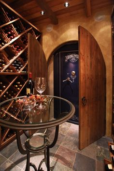 Cool Secret Door with Safe.......in Wine Cellar!