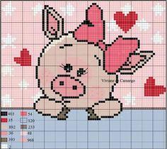 Cross Stitch For Kids, Cross Stitch Charts, Cross Stitch Patterns, Cross Stitching, Cross Stitch Embroidery, Pixel Crochet, Crochet Amigurumi Free Patterns, Fabric Rug, Granny Square Crochet Pattern