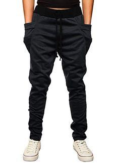 6bcca8c63b47 HEMOON Mens Jogging Pants Tracksuit Bottoms Training Running Trousers Dark  Navy XS Slim Fit Trousers