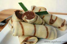 Kue Dadar Gulung; chocolate inside.  #indonesian #traditional cakes