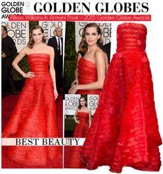"""Allison Williams In Armani Privè – 2015 Golden Globe Awards"" by kusja on Polyvore"