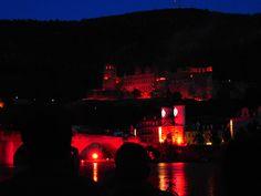 Castle Illumination,Heidelberg,Germany