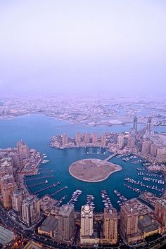 Aerial view of The Pearl | #Doha #Qatar