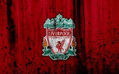تحميل خلفيات نادي ليفربول, 4k, الدوري الممتاز, شعار, إنجلترا, كرة القدم, نادي كرة القدم, الجرونج, ليفربول, الفن, الحجر الملمس