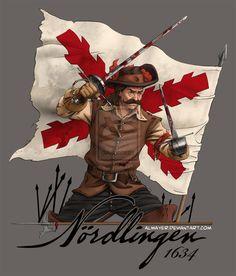 Spanish Tercio swordsman in the Battle of Nördlingen on September, 1634. by Almayer