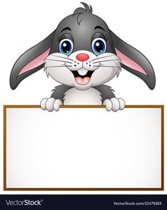 Cartoon bunny holding blank sign vector image on VectorStock Boarder Designs, Page Borders Design, Art Drawings For Kids, Drawing For Kids, Boarders And Frames, Blank Sign, School Frame, Kids Background, School Clipart