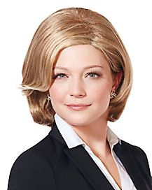 Look as though you're ready to run for office with this blonde wig! With short, natural-looking blonde hair styled into a very formal look, this wig is great for any political or business-themed costume. Mild Shampoo, Blonde Wig, Formal Looks, Political Party, Wigs, Politics, Costume, Hair Styles, Business
