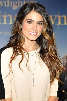 Nikki Reed's ombre waves - celebrity hair and hairstyles